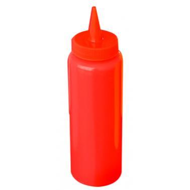 Пластмасова бутилка за кетчуп 240мл червена JW-BSD8 - Horecano