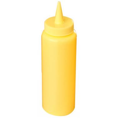 Пластмасова бутилка за горчица 240мл жълта JW-BSD8 - Horecano