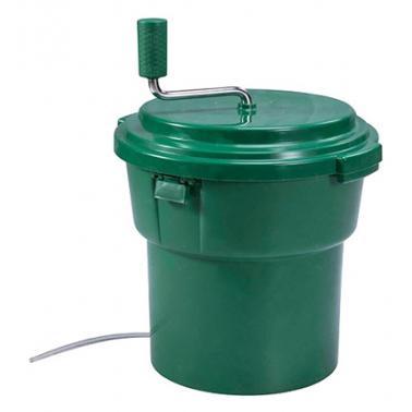 Пластмасова професионална центрофуга за зеленчуци dia зелена  19л   46,5x56,5см  JW-(JW-SP19) - Horecano