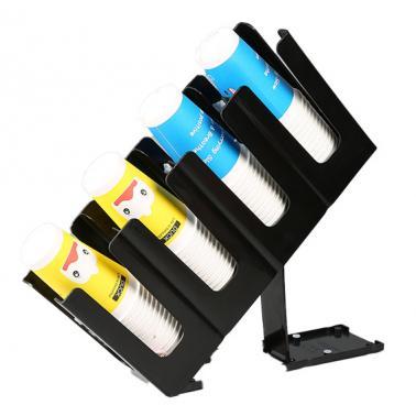 Пластмасов бар органайзер за чаши регулируем с 4 отделения черен12x24xh45см (JD-86255)- Horecano