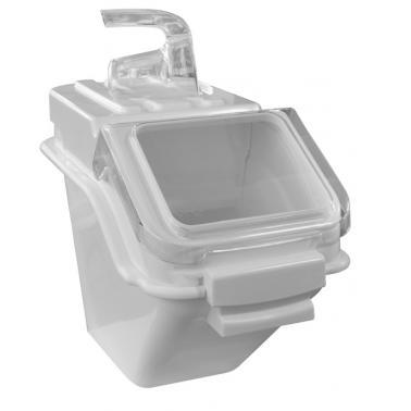 Пластмасов контейнер за съхранение на продукти 10л бял 40x29xH23см(JD-IB10) - Horecano