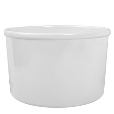 Меламинов буркан  бял  CROCK  1.8л 17х17х10.5см  HORECANO- (207101IV)