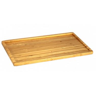 Бамбукова дъска за презентация NANTO GN 1/1 53х32.5х1.5см HORECANO- (1115B)