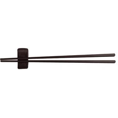Меламинова поставка за клечки за хранене 6см черна HORECANO-SHIBUI-(530703BK)