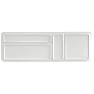 Пластмасова двустранна табла за хотелска козметика и консумативи бяла 32,5x10,6xh1,1см(411513IV)- Horecano