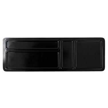 Пластмасова двустранна табла за хотелска козметика и консумативи черна 32,5x10,6xh1,1см(411513BK)- Horecano
