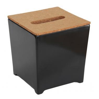 Кутия за кърпички 14x14xh14,5см черна (518706BK)- Horecano