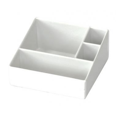 Пластмасова хотелска поставка за комплименти с 4 разделения бяла 10,5x10,2xh5см275мл(512804IV)- Horecano