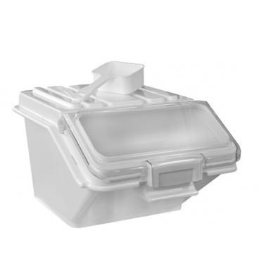 Пластмасов контейнер за съхранение на продукти 24л бял 59x30xH44см (JD-IB24)- Horecano