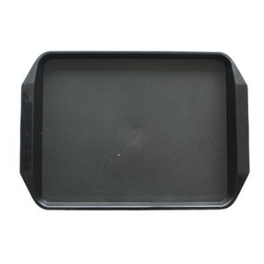 Пластмасова табла за сервиране с неплъзгащо покритие черна 30x42,5x1см. JW-D1217P - Horecano
