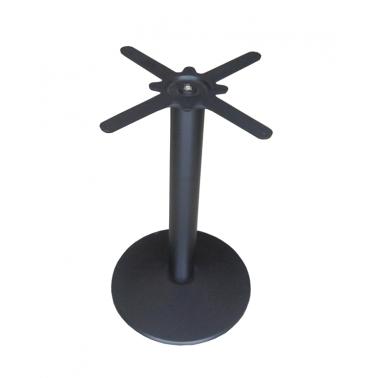 Метална стойка 43x73 см за квадратен/кръгъл плот черен (B11716-43) ГР - Horecano