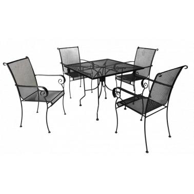 Комплект  маса със  столове  от ковано желязо