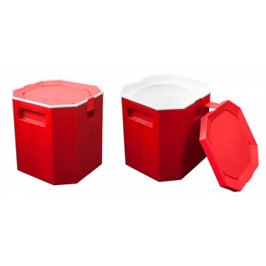 Контейнер за лед  червен 13л   NR-9178 CN-(A0127-2) - Horecano