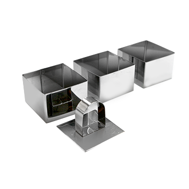 Иноксови форми квадратни комплект F8002-1 CN-(2191) - Horecano