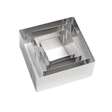 Иноксови форми квадратни комплект - 9SB (2194) - Horecano