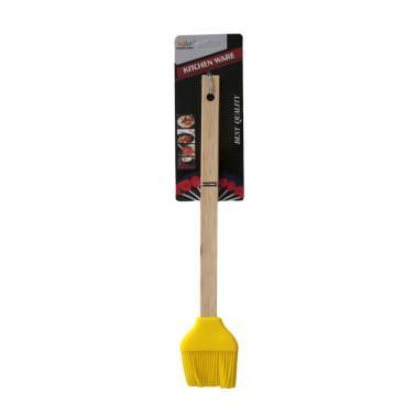 Силиконова четка с дървена дръжка XH1117 CN-(0586) - Horecano