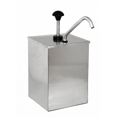 Иноксов диспенсър за сосове 3л с помпа JZP-01 (181059) - Horecano