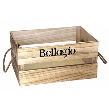 Дървена касетка 36x25x17см бежова BELLAGIO CN-(181155-1L) - Horecano