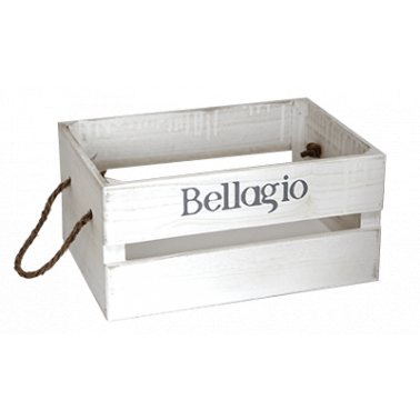 Дървена касетка 36x25x17см бяла BELLAGIO CN-(181155-2L) - Horecano