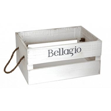 Дървена касетка 26x17x13см бяла BELLAGIO CN-(181155-2S) - Horecano