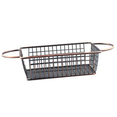 Метална кошничка  за сервиране с медно покритие и  две дръжки 16x10.5x5см    HORECANO-(HC-981485)