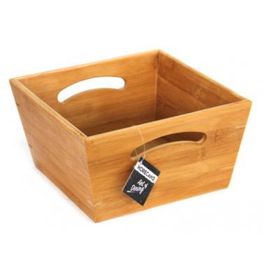 Бамбукова квадратна купа 20x20xh12см  HORECANO-(HC-981501)