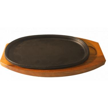 Чугунен сач елипса с подложка 26,5х17см CN-(CL-901 / 5228-4082-2) - Horecano