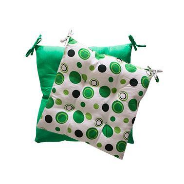 Текстилна възглавница 45x45см зелена с точки (7822)- Horecano