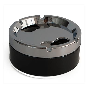 Иноксов пепелник ветроустойчив 11,5x5,4см  L-7711 CN-(9903-3) - Horecano