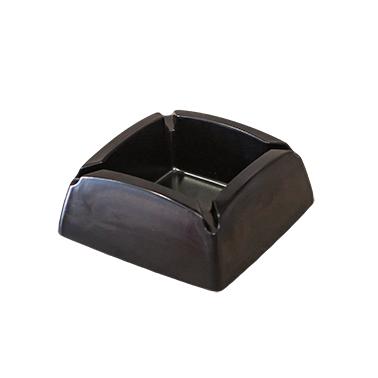 Меламинов пепелник  квадратен черен 9,5х9,5см  CN-(7771-1) - Horecano