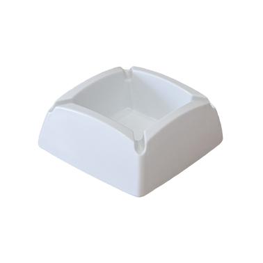 Меламинов пепелник  квадратен бял 9,5x9,5см CN-(7771-2) - Horecano