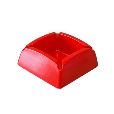 Меламинов пепелник   квадратен червен 9,5x9,5см CN-(7771-3) - Horecano