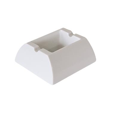 Меламинов пепелник  правоъгълен бял 10,6x9,2см  CN-(7772-2) - Horecano