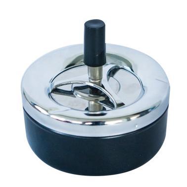 Пепелник ветроустойчив с бутон инокс/пластмаса   9см CN-(9906-1) - Horecano
