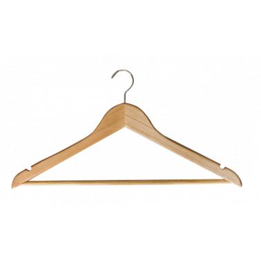 Дървена закачалка за дрехи цвят натурал 66А 3бр. CN-(7808 / 8139) - Horecano