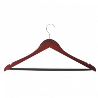 Дървена закачалка за дрехи цвят венге 3бр. CN-(7809) - Horecano