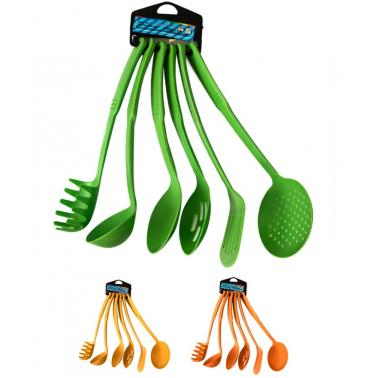 Комплект кухненски прибори  цветни 6бр.   PVC CN-(9908) - Horecano