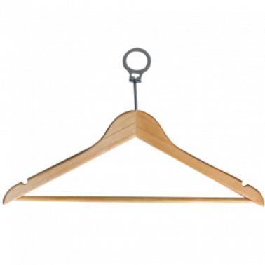 Дървена закачалка за дрехи хотелска с халка CN-(9957 / A0240) - Horecano