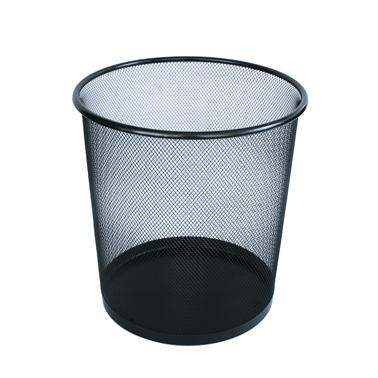 Метален кош канцеларски, мрежа 26x27,2см черен CN-(5389-2) - Horecano