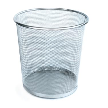 Иноксов кош, канцеларски с мрежа 26x27,2 см, сив CN-(5389-1) - Horecano
