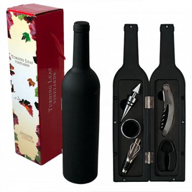Комплект иноксови аксесоари за вино от 5 части в кутия-бутилка CN-(SXZ99-5 / 5409) - Horecano