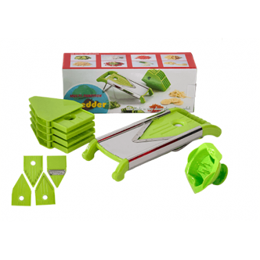 Ренде за зеленчуци и плодове мултифункционално пластмаса / инокс CN-(9558 / 5413) - Horecano