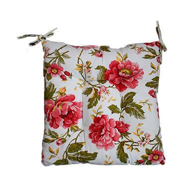 Текстилна възглавница 45x45см с червени розиN-574(5516) - Horecano