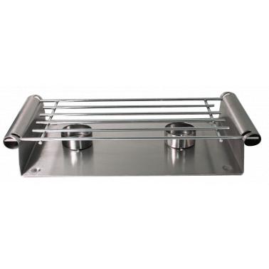 Иноксова стойка двойна за подгряване на плата CN-(PS033 / A0022) - Horecano