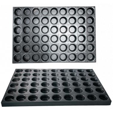 Алуминиева форма за печене на сладки 54 места GN  60х40см CN-(А0158) - Horecano