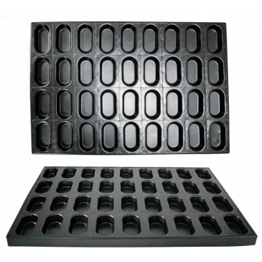 Алуминиева форма за печене на сладки 36 места GN 60х40см CN-(А0160) - Horecano