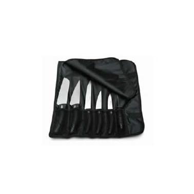 Комплект професионални ножове от неръждаема стомана  в калъф   6бр. (71328) PIRGE-DELUX