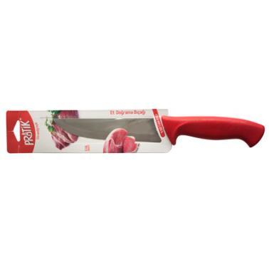Нож за месо №3 от неръждаема стомана 18см червен PIRGE-PRATIK-(43036)