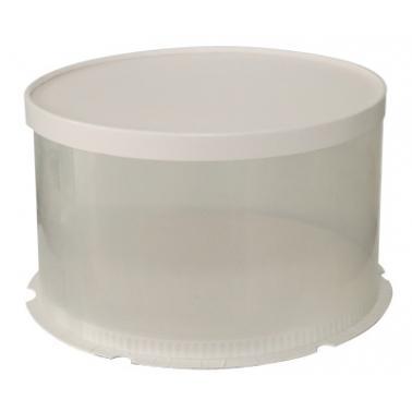 Пластмасова кутия за торта за еднократна употреба кръгла ф34х18см BAKERY- (HC-931051)