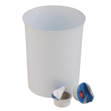 Полипропиленово кошче за маса бяло  ф11см 900мл  - APS